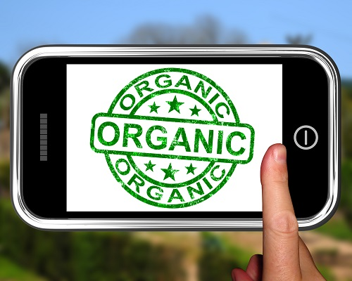 Organic On Smartphone Shows Ecological Products